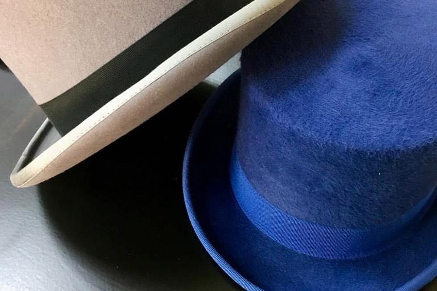 Chistera azul y gris para 2019.